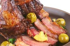 Roast rib's close up Royalty Free Stock Image