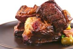 Roast rib's very close Stock Photos
