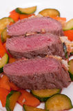 Roast saddle of lamb Stock Images