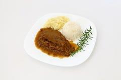 Roast silverside with roti sauce dish Stock Images