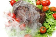 Roast smoke meat served Royalty Free Stock Image