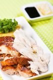 Roast and steamed chicken Royalty Free Stock Images