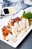 Roast and steamed chicken Royalty Free Stock Photo