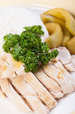 Roast and steamed chicken Stock Photos