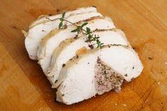Roast Stuffed Chicken Breast Stock Photos