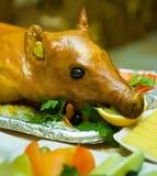 Roast suckling pig Stock Photos
