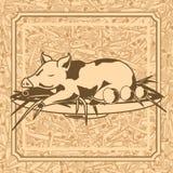 Roast suckling pig royalty free illustration