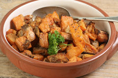 Roast sweet potato Royalty Free Stock Photography
