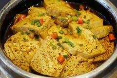 Roast tofu with chili Stock Images