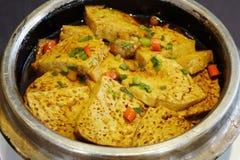 Roast tofu with chili. Chinese  cuisine ,Roast tofu with chili Royalty Free Stock Photo