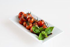 Roast tomatoes. Roasted tomatoes from the Italian cuisine Royalty Free Stock Photography