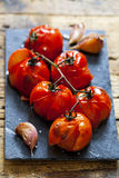 Roast tomatoes Stock Photo