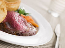 Roast Topside of British Beef Royalty Free Stock Photos