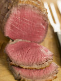 Roast Topside of British Beef carved stock images