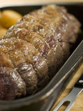 Roast Topside of British Beef in a Tray royalty free stock photo