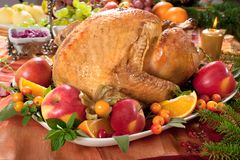 Roast turkey royalty free stock photography
