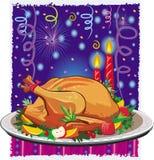 Roast turkey stock illustration