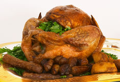 Roast turkey 3. Restive roast turkey with all the trimmings royalty free stock photography