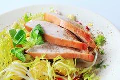 Roast turkey breast and potatoes stock photos