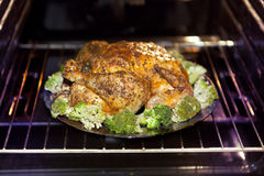 Roast turkey and cabbage Stock Photos