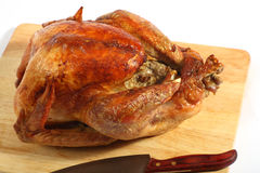 Roast turkey high angle view Stock Photo