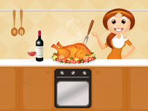 Roast turkey Royalty Free Stock Photos