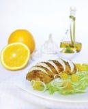 Roast turkey with orange Royalty Free Stock Image