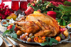 Roast turkey royalty free stock photos