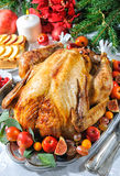 Roast turkey stock image