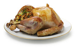 Roast turkey with stuffing. Thanksgiving day dinner Stock Image