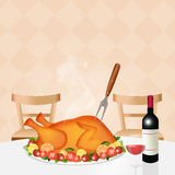 Roast turkey for Thanksgiving Royalty Free Stock Image