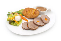 Roast of veal with potatoes Royalty Free Stock Photo