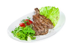 Roast veal on the white Stock Photo