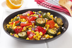 Roast Vegetable Salad Royalty Free Stock Photo