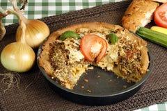 Roast vegetable tart Royalty Free Stock Photos