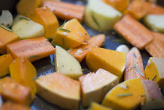 Roast vegetables Stock Images