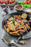 Roast with Vegetables Royalty Free Stock Image