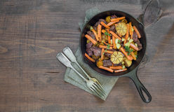 Roast with Vegetables Stock Image