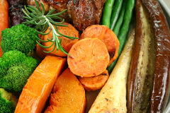 Roast Vegetables And Lamb Royalty Free Stock Photo