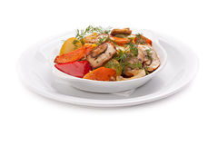 Roast vegetables with mushrooms. Stock Images