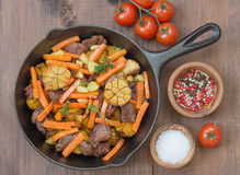 Roast with Vegetables Royalty Free Stock Photo