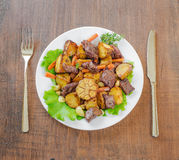 Roast with Vegetables Stock Photography