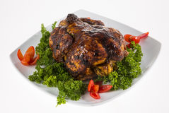 Roast whole chicken. Stock Photo