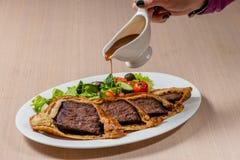 Roastbeef mit Gemüse Lizenzfreie Stockfotos