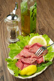 Roastbeef with salad Stock Photography