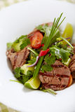Roastbeef salad Stock Photo