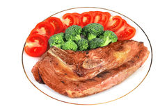 Roaste steak and vegetables Royalty Free Stock Photo