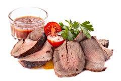 Roasted отрезало мясо стоковые изображения