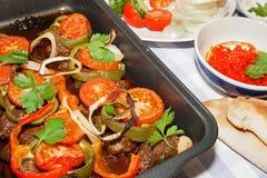 Roasted семенило kebab мяса. Стоковое Изображение