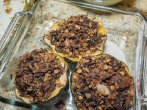 Roasted acorn squash Stock Image
